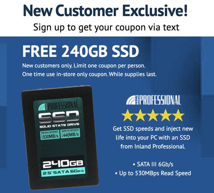 micro center free ssd
