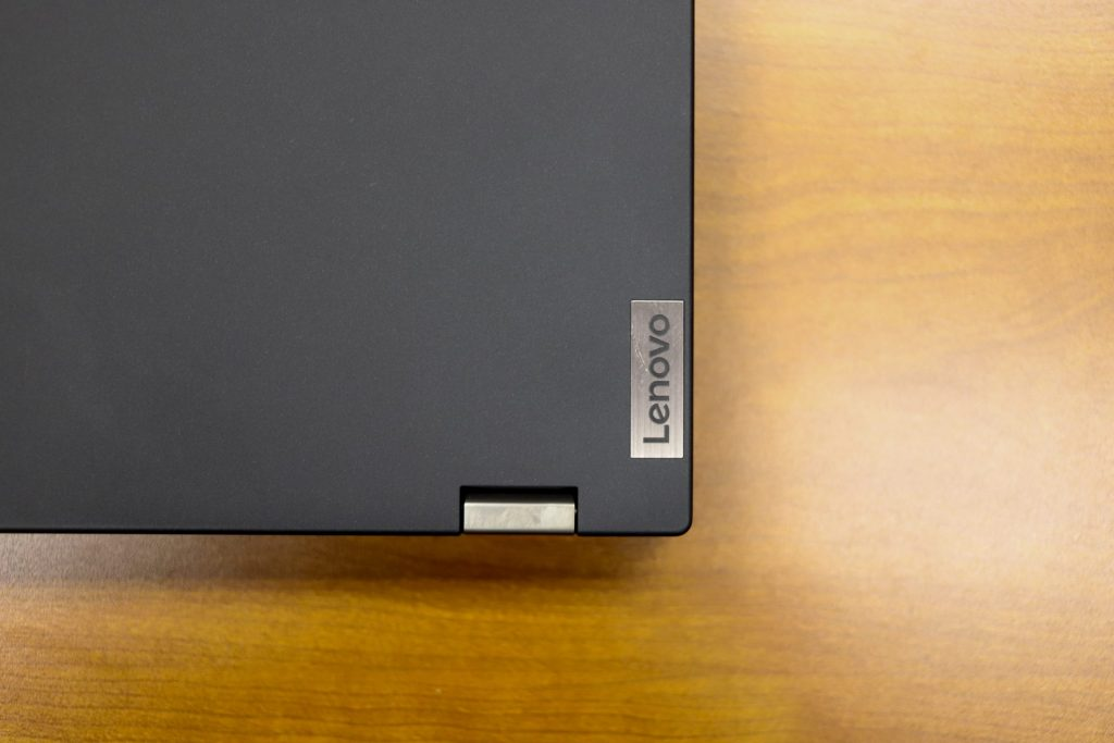 Lenovo ThinkPad P15 Gen 2 top corner view