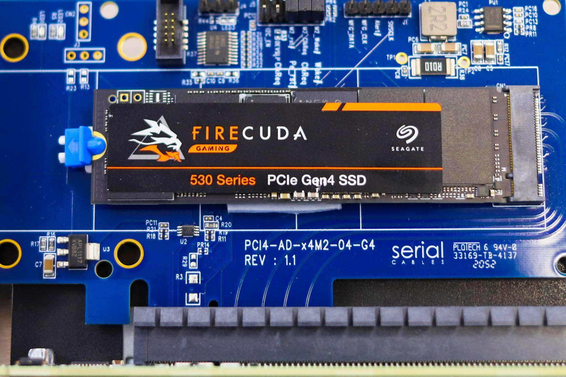 Seagate FireCuda 530 SSD in server