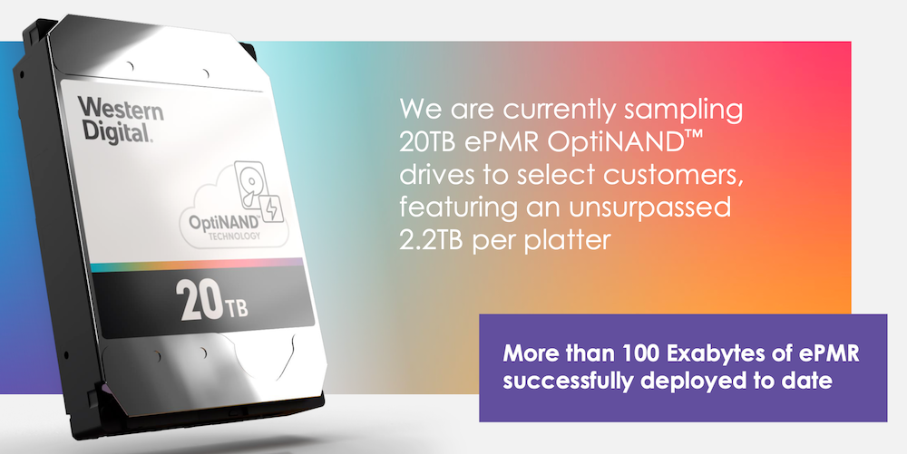 WD OptiNAND 20TB HDD