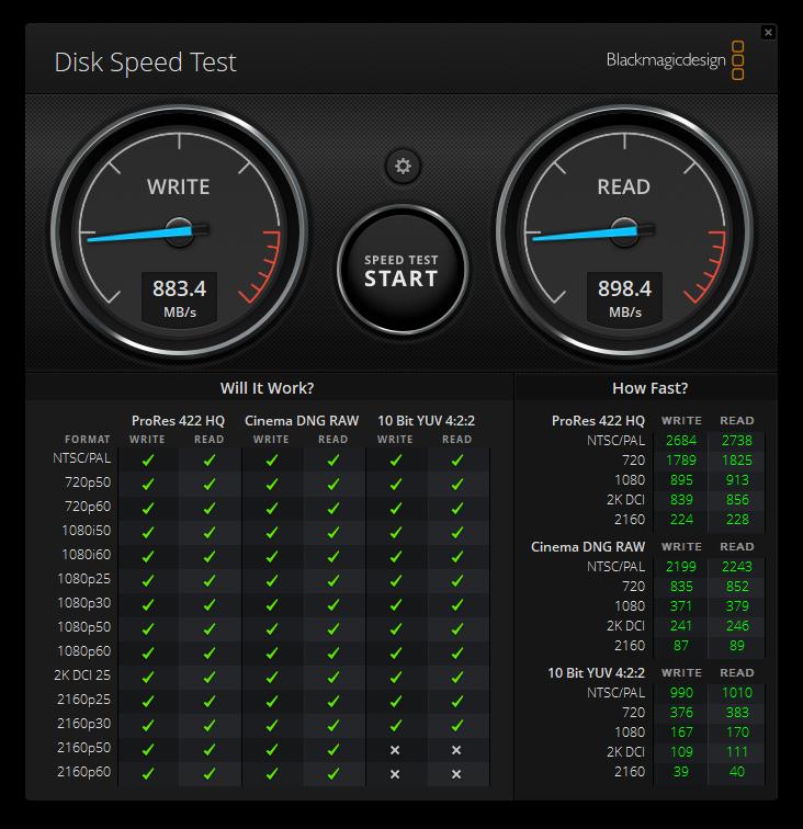 Kingston DataTraveler Max Blackmagic Disk Speed Test