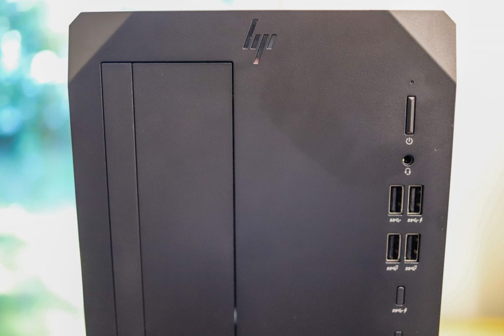 HP Z2 G8 Tower Front Ports