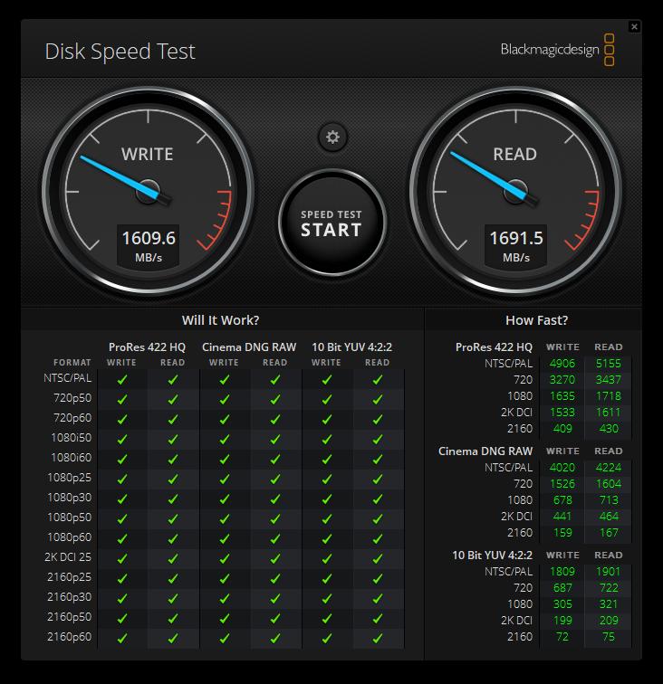 Kingston XS2000 Disk Speed Test