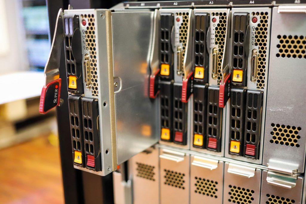 Supermicro SuperBlade one server removed