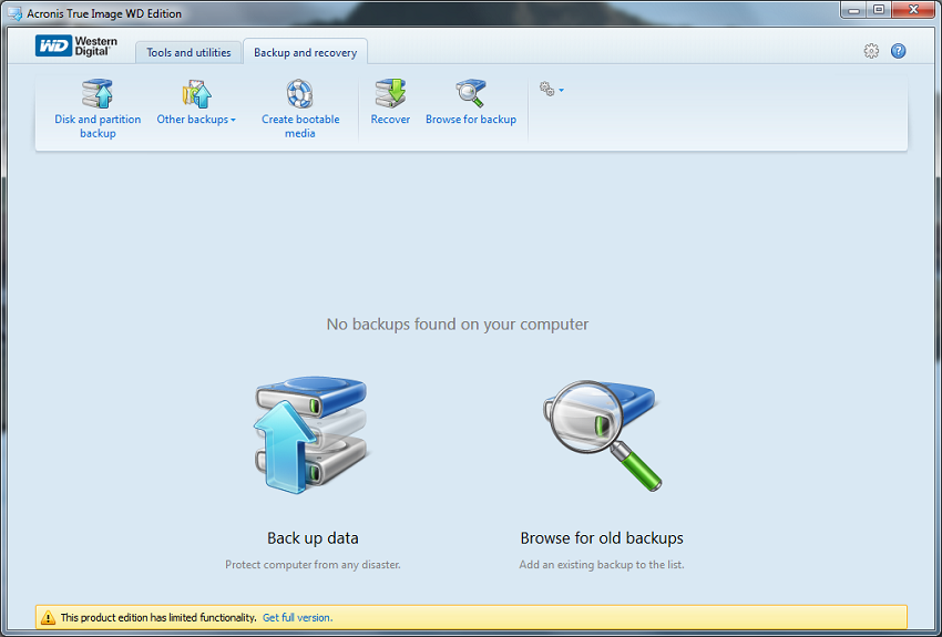 Software Acronis True Image Wd Edition